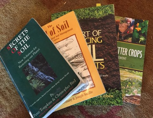 several books on soil displayed